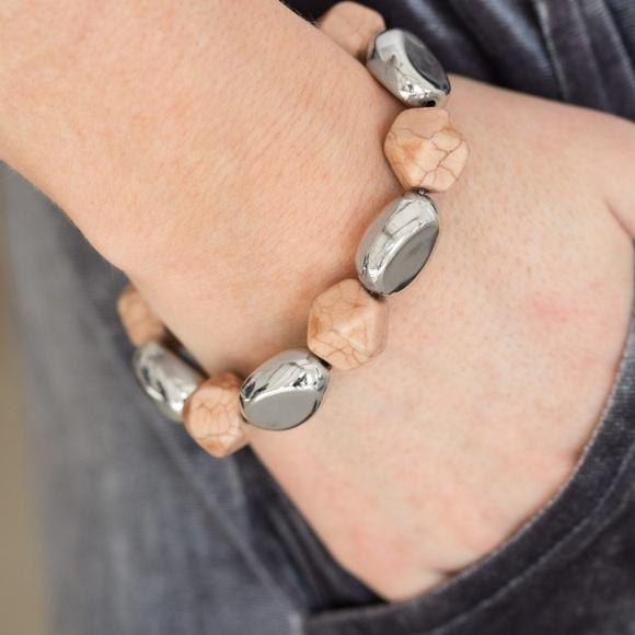 paparazzi Jewelry - Rock Candy Canyons - Brown Bracelet